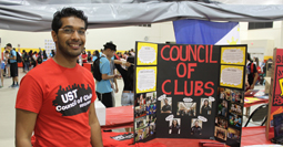 Student at Club Fair