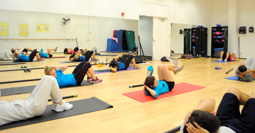 Fitness class in Jerabeck Activity and Athletic Center