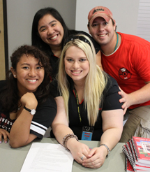 Residence assistants in Guinan Hall