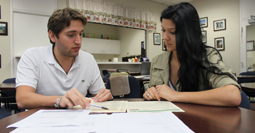 Roberto Gonzalez and Natasha Alvarez in Academic Advising