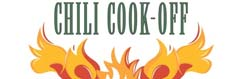 Graphic with text reading chili cook off