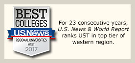 US News & World Report ranks UST in the top tier of western region.