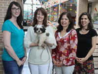 Counseling and Disability staff with Percy the therapy dog