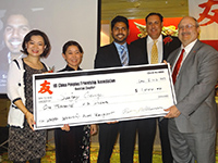 Sanjay George receives scholarship at USCPFA Gala