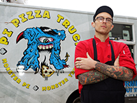 Anthony Calleo with his Pi Pizza Food Truck