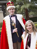 C.J. Miller and Meredith Smith will attend the Mardi Gras Gala as king and queen.