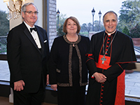 Pictured L to R: Dennis and Ginny Malloy with Daniel Cardinal DiNardo