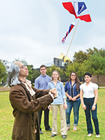 Research Symposium Benjamin Franklin with Kite