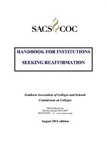 The Handbook for Institutions Seeking Reaffirmation
