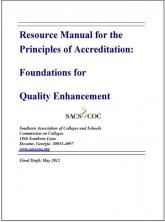 The Resource Manual for the Principles of Accreditation