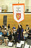 Nursing Flag at Graduation Mass