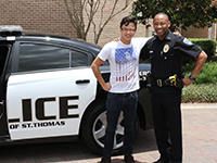 Pictured L to R: Diego Luna and Police Chief James Tate