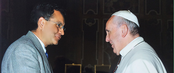 Garcia-Contreras Meets Pope Francis on Investing for the Poor