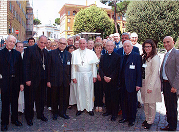 Pope Francis with Pontifical Academy of St. Thomas Aquinas