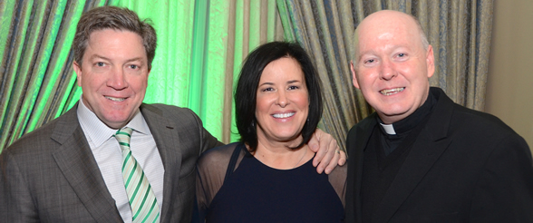 Kari and Sean Tracey, Gala Chairs - Reverend Brendan J. Cahill, STD