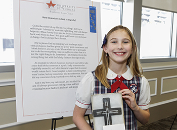 Lynley Pace is a winner in the UST/Archdiocesan Essay Contest