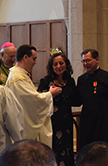 Dr. Clint Brand receives Papal honors. Photo by: Margaret Pichon