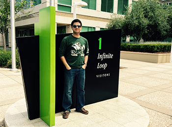 Umer Khan on Apple campus