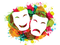 Illustration of theater masks