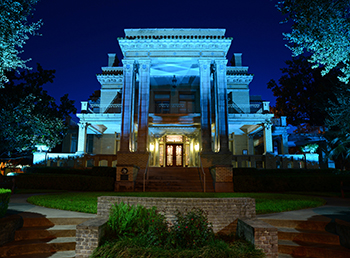 UST Lights Mansion Blue for Prostate Cancer Awareness