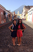 University of St. Thomas Houston nursing school students Selena Ling and Gabby Rabosa during a study abroad trip to Haiti