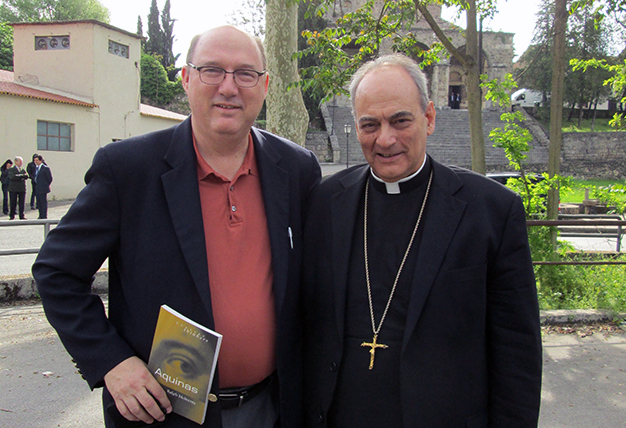University of St. Thomas Houston professor of philosophy Dr. John Hittinger with Bishop Marcelo Sánchez Sorondo
