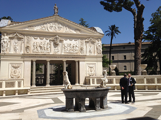 The Pontifical Academy of St. Thomas Aquinas meets at Casina Pio IV, a historical villa in Vatican City