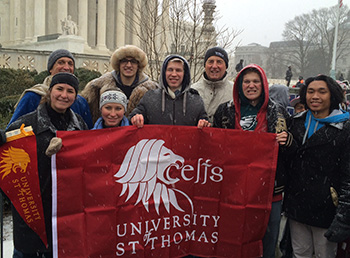 UST Students march for life in Washington, D.C.