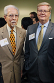 Former CIS director and Associate Professor Emeritus William J. Cunningham and CIS Advisory Board Member Dan Stoeker '80
