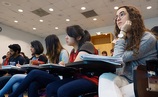 Students in classroom at the University of St. Thomas in Houston, TX