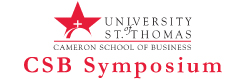 University of St. Thomas Cameron School of Business logo for the Business Symposium