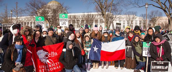 University of St. Thomas Campus Ministry at March for Life in Washington, D.C.