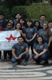 Students from the American Chemical Society chapter at the University of St. Thomas in Houston, Texas