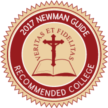 One of only 20 U.S. catholic colleges and universities recommended by the Cardinal Newman Society.