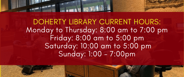 Library hours November 2020