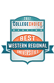 College Choice Best Western Regional Universities 2017 Badge
