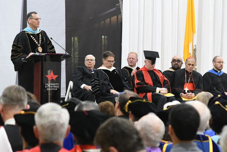 Inaugural address of Dr. Richard Ludwick at the University of St. Thomas in Houston, Texas