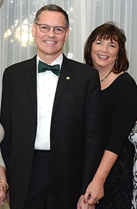 UST President Richard Ludwick and wife Melynda at the Irish Gala
