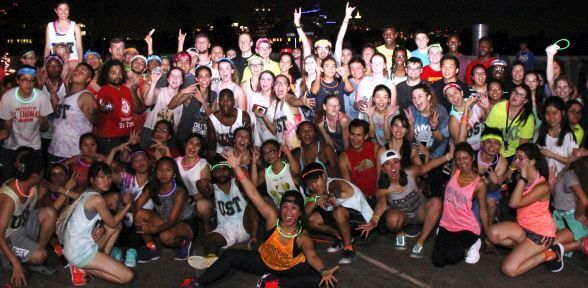 Zumba glow party at the University of St. Thomas in Houston, Texas