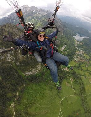 University of St. Thomas - Houston physics minor paraglides in Germany during study abroad trip
