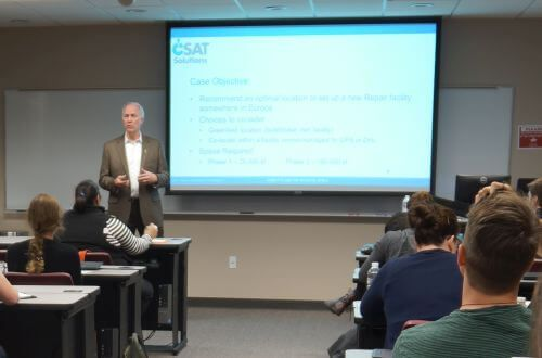 Guest lecturer in Cameron School of Business Capstone course at University of St. Thomas in Houston, Texas