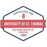 UST recognized for having one of the nation's best online M.Ed. programs.
