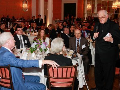 Archbishop Fiorenza speaking at Faithful Citizenship Dinner