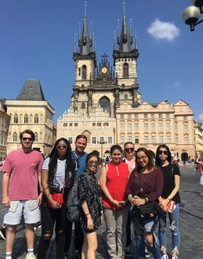 University of St. Thomas Houston students on study abroad trip in Prague