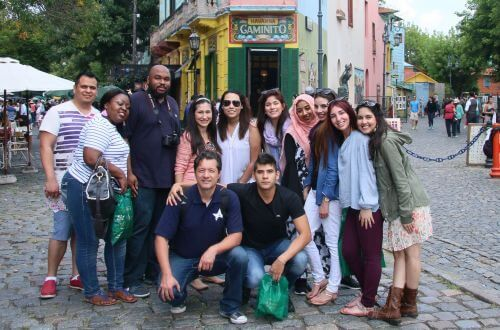 University of St. Thomas students in Argentina during study abroad trip