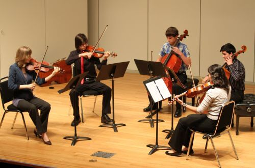 University of St. Thomas - Houston string ensemble Music majors perform