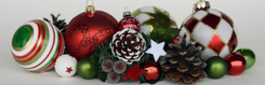 Photograph of Christmas ornaments