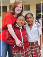 Photo: Flanagan and Peruvian Students