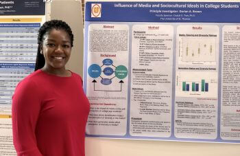 Psychology major presents at University of St. Thomas - Houston Research Symposium