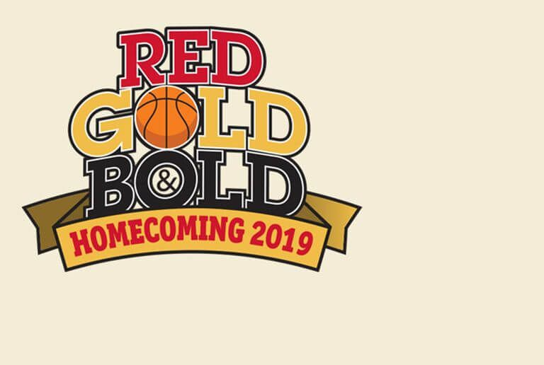 Red, Gold and Bold Homecoming logo